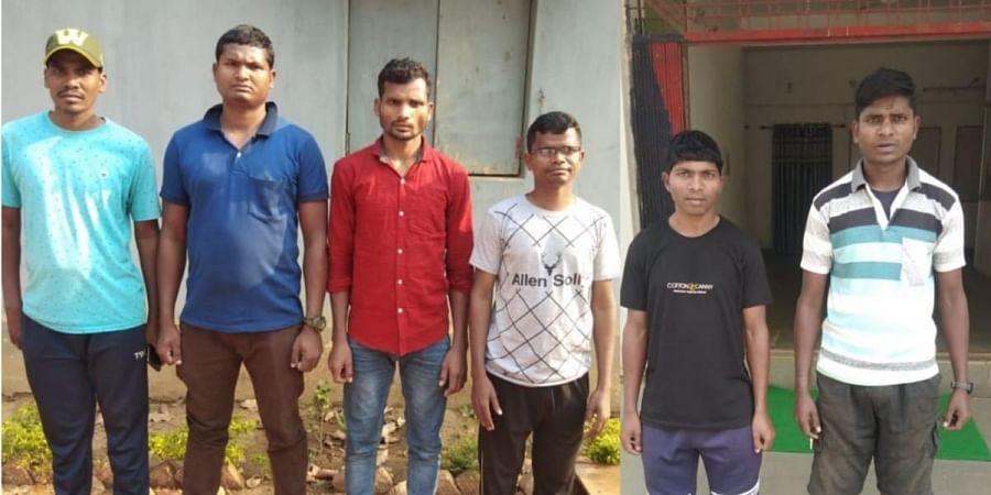 Six senior Maoist cadres who underwent surgical reverse vasectomy.