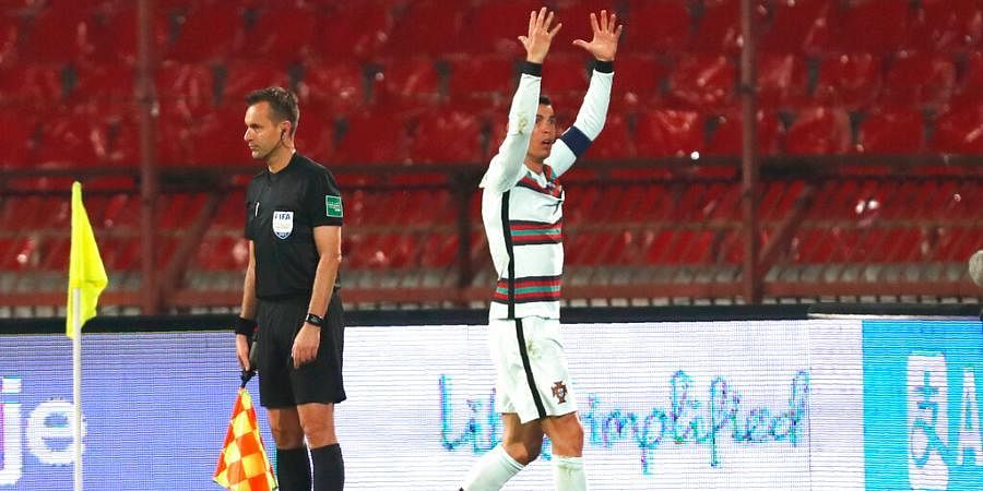 Serbia Vs Portugal Pandemic Blamed For Lack Of Var After Cristiano Ronaldo S Complaints The New Indian Express