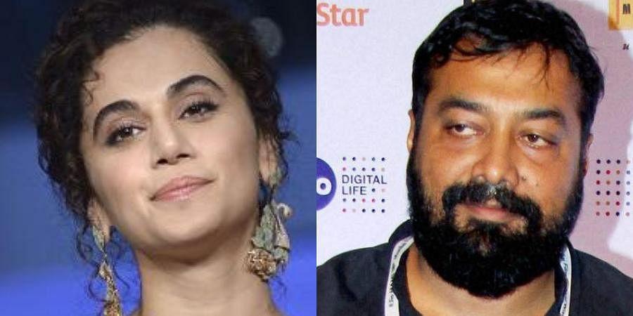(L) Actress Taapsee Pannu and (R) Director Anurag Kashyap (Photos | PTI)