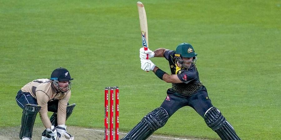 Australia's Glenn Maxwell, right, bats against New Zealand during their third T20 cricket international. (Photo | AP)