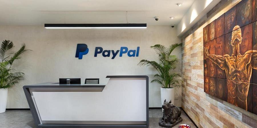 Logo of PayPal in its Mumbai office