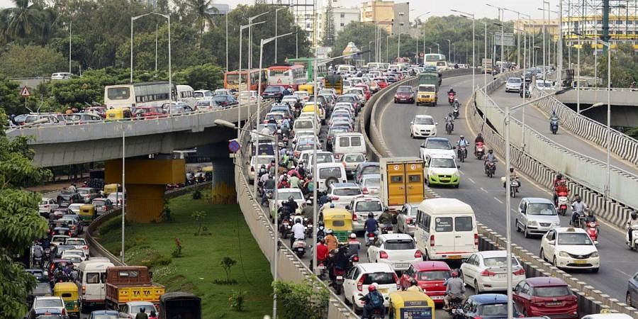 traffic jam, bangalore