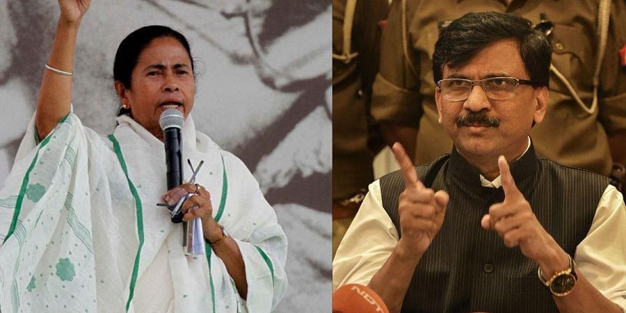 West Bengal Chief Minister Mamata Banerjee and Shiv Sena MP Sanjay Raut (Photo| PTI)