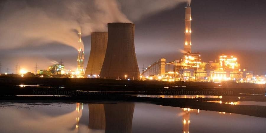 Smokes billowing above the thermal power plants. (EPS |V Karthikalagu)