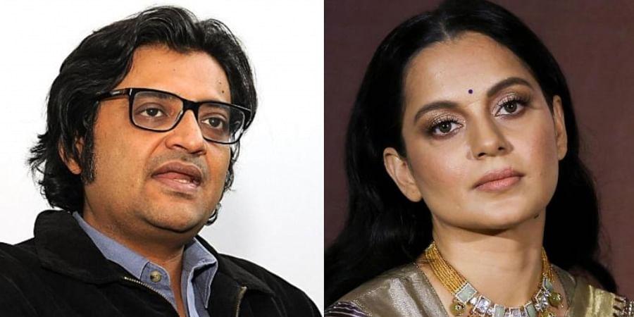 Arnab Goswami (L), Kangana Ranaut (R)