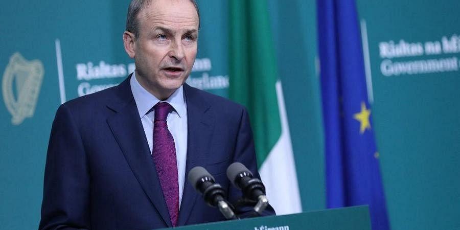Irish Prime Mininster Micheal Martin. (Photo  AFP)