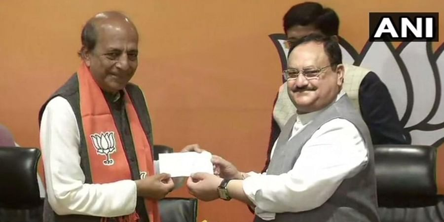 Dinesh Trivedi joined BJP in the presence of the party's national president JP Nadda