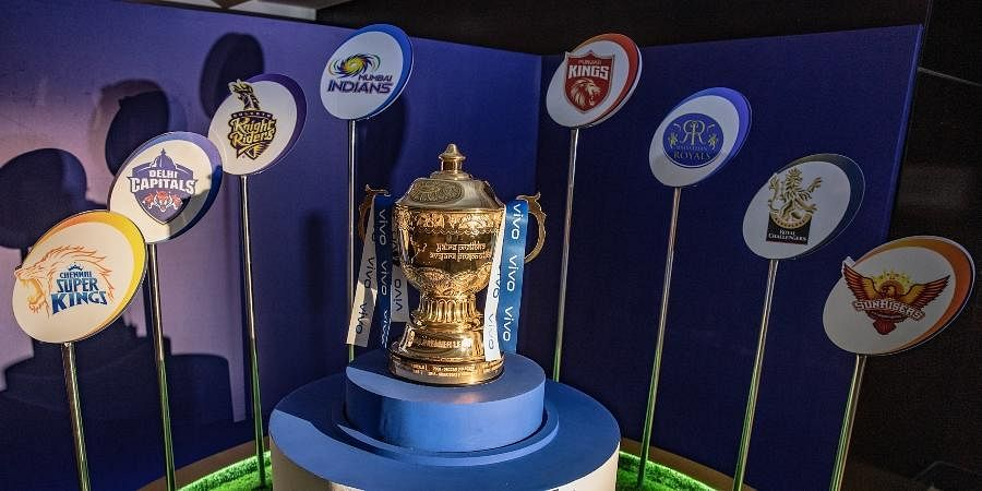 The Indian Premier League 2021 trophy. (Photo | Twitter/@IPL)