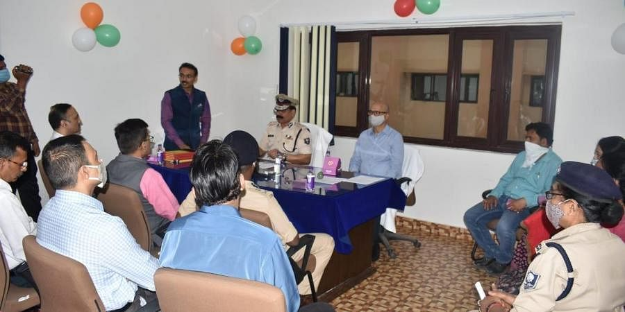 DGP inaugurating counselling cell for women. (Photo|EPS)