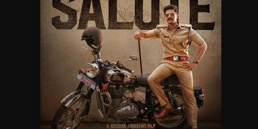 Dulquer Salmaan as a police officer in film 'Salute'.