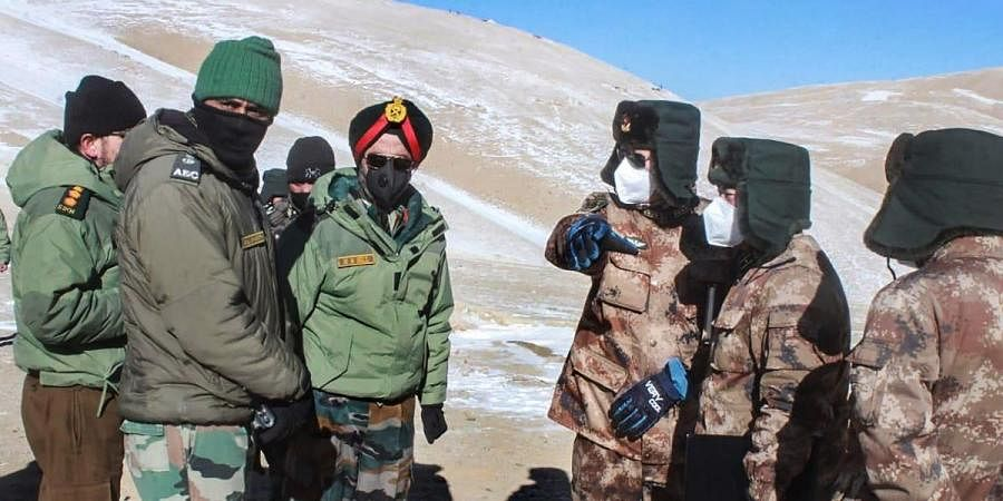 Indian and Chinese troops and tanks disengaging from the banks of Pangong lake area in Eastern Ladakh Thursday Feb. 11 2021.