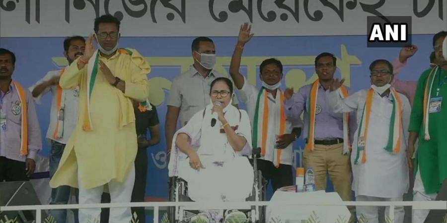 West Bengal CM Mamata Banerjee at an election rally