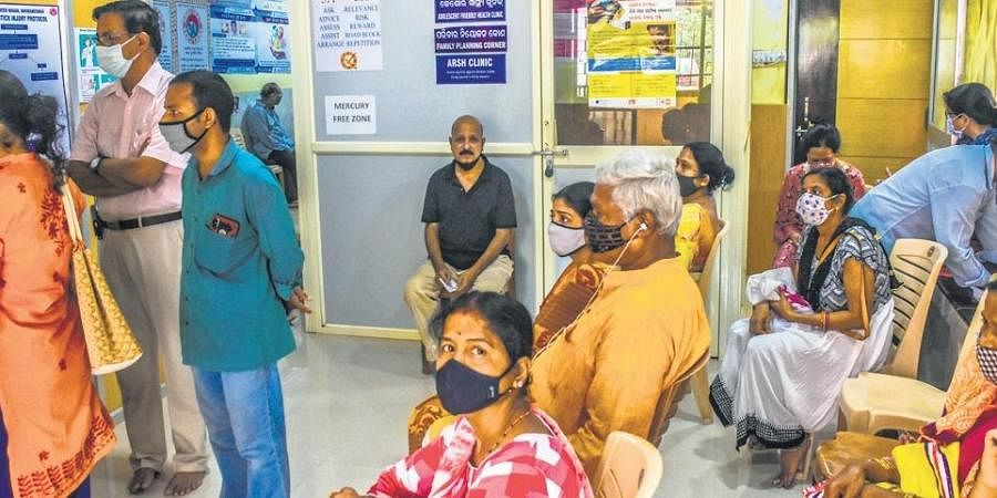 People at a vaccination centre in Bhubaneswar on Friday.