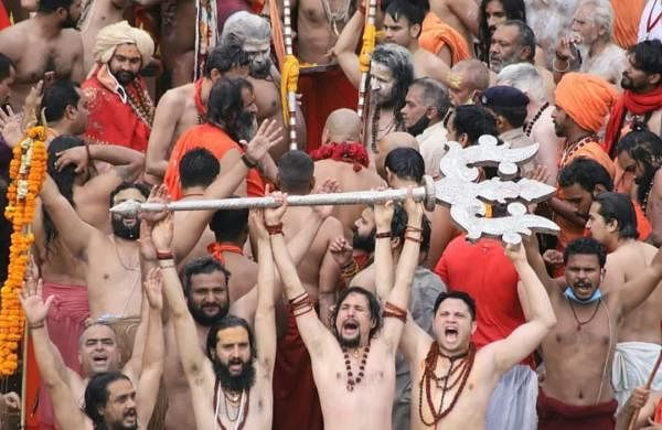 Mahakumbh: Scores flout Covid norms as 35 lakh assemble in Haridwar for Shahi Snan