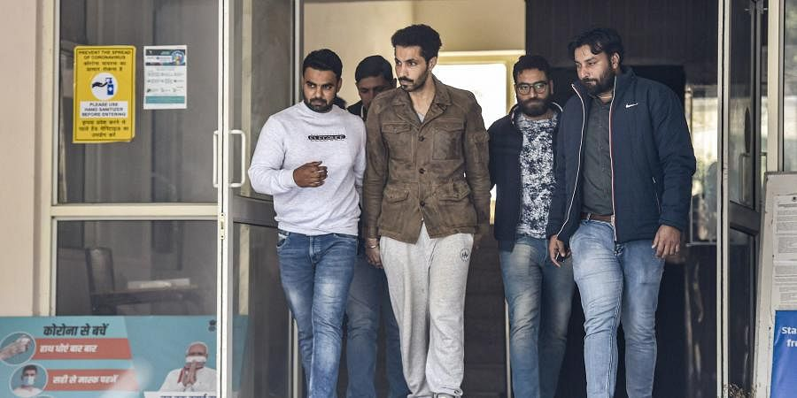 Actor Deep Sidhu accused in the violence on Republic Day during a farmers' tractor rally arrested by Delhi Police special cell in New Delhi Tuesday