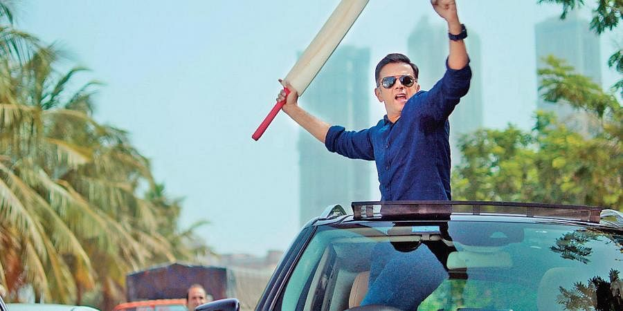 Rahul Dravid in a still from the video.