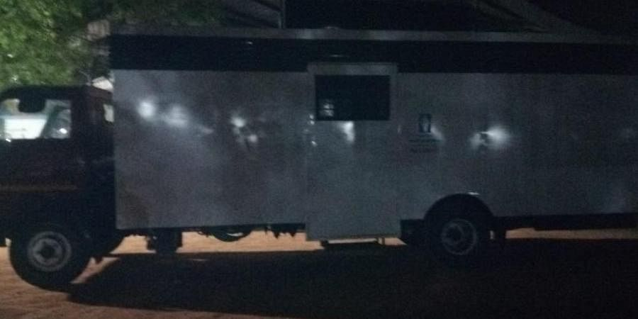 Police later moved the mobile toilets off campus.