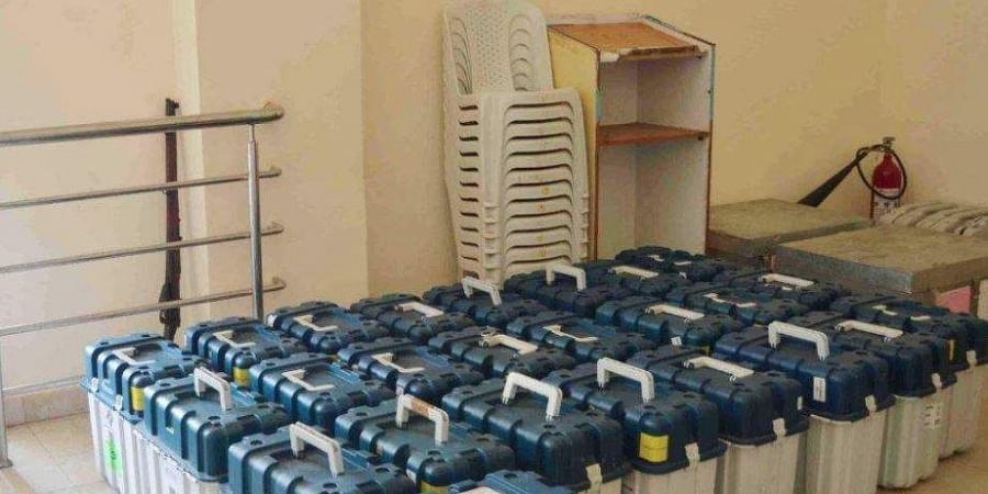 Image of EVMs and VVPATS used for representational purpose (Photo | G Satyanarayana/EPS)