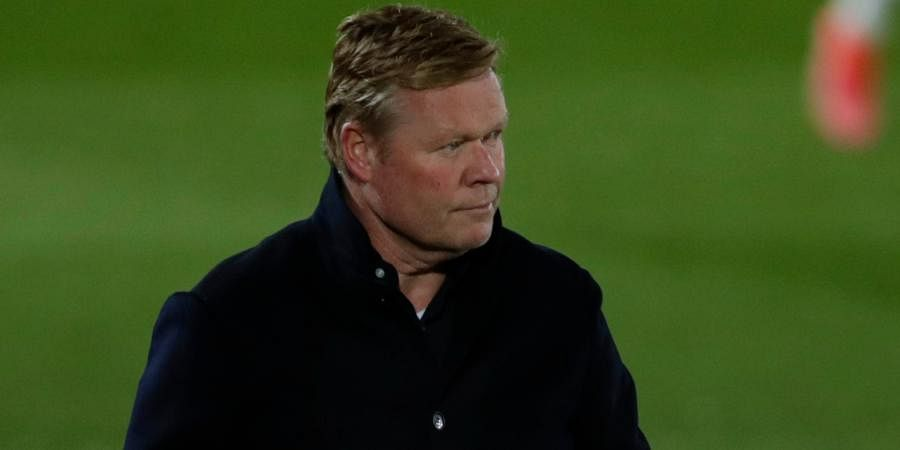 Barcelona coach Ronald Koeman