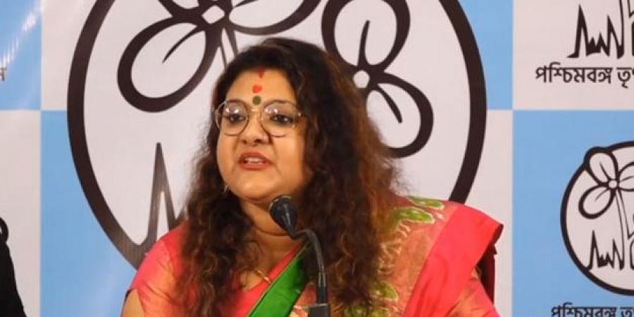 BJP MP Saumitra Khan's wife Sujata Mondal Khan joins Trinamool Congress in Kolkata.