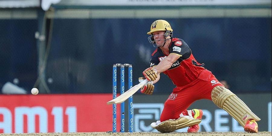 AB de Villiers of Royal Challengers Bangalore plays a shot. (Photo   PTI)