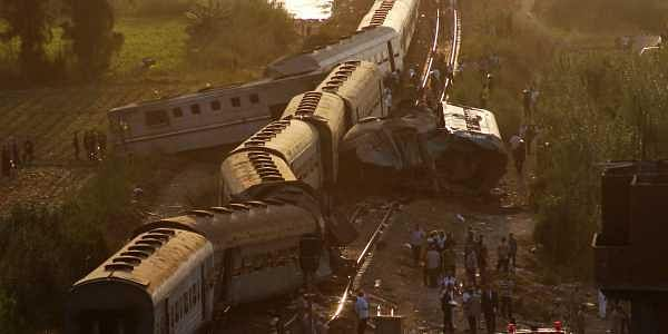 Alexandria crash: Two trains collided on the Cairo-Alexandria mainline on August 11, 2017, killing 41 people and injuring scores more. One train is thought to have broken down when the other one slammed into it.