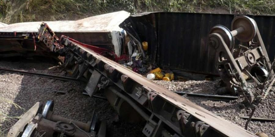 Congo carnage: A goods train carrying hundreds of illegal passengers flew off the rails in a swampy and inaccessible part of the south of the Democratic Republic of Congo on April 22, 2014, killing at least 136 people. Many had to be buried in mass graves nearby.