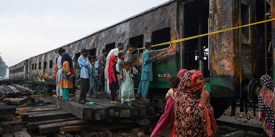 Pakistan pilgrims: At least 74 people died and more than 40 were injured on October 31, 2019 when a fire broke out on an overcrowded passenger train in the Punjab carrying pilgrims to a religious gathering near Lahore. The blaze is thought to have been started by gas canisters exploding as passengers prepared a meal on board.