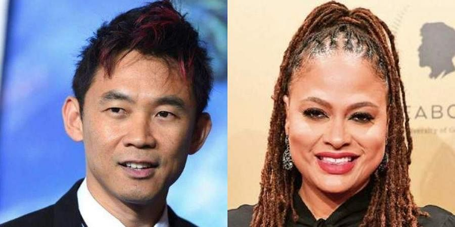 Directors James Wan (L) and Ava DuVernay