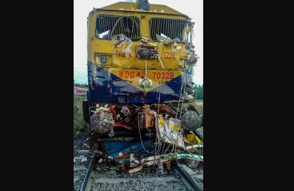 Five dead as train rams into vehicles at open level-crossing in UP's Shahjahanpur