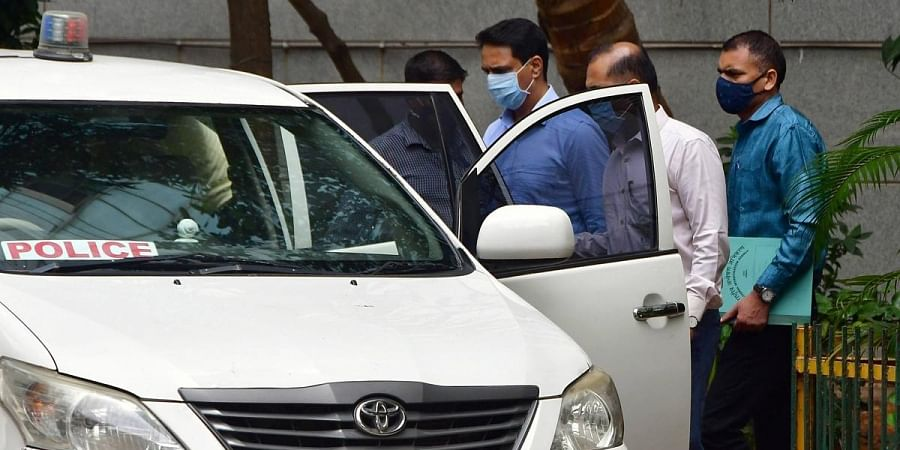 NIA produce Mumbai Crime branch officer Sunil Mane for his alleged role in Antilia bomb scare and Mansukh Hiran murder case to a Sessions Court in Mumbai. (Photo   PTI)
