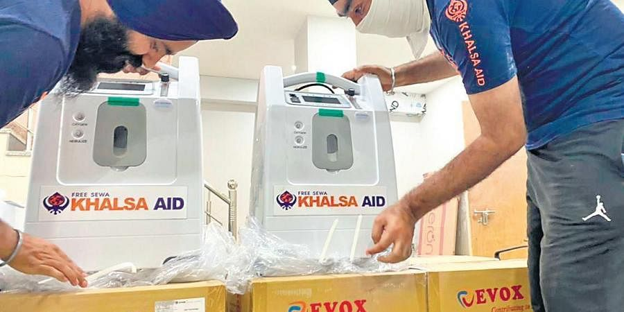 Khalsa Aid India will give 65 oxygen concentrators to patients in first lot.
