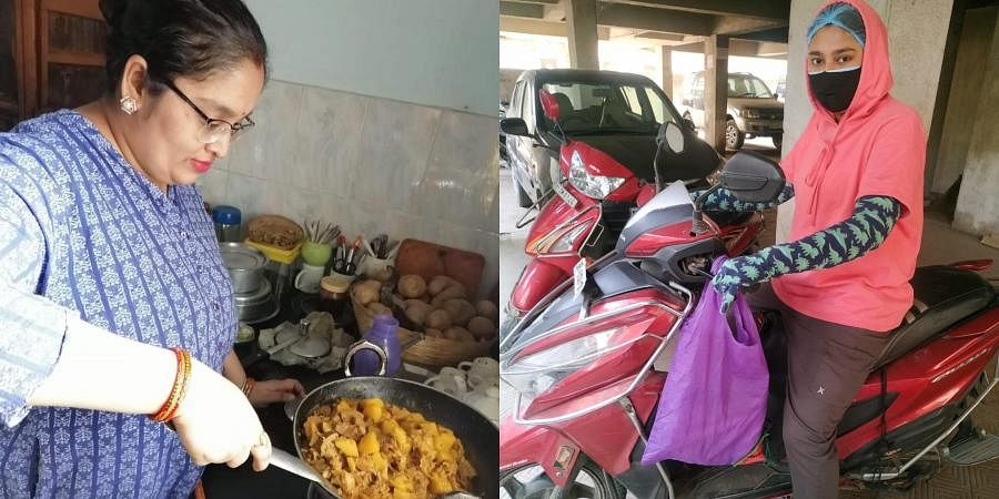 Anupama Singh, and Neelima Singh have been delivering free food packets to covid-infected patients who are self isolating in their homes.