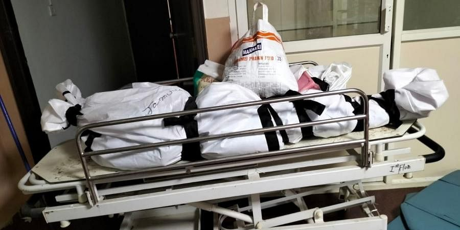 Bodies pile up in the corridors of TIMS, Gachibowli, due to space crunch in the hospital's mortuary