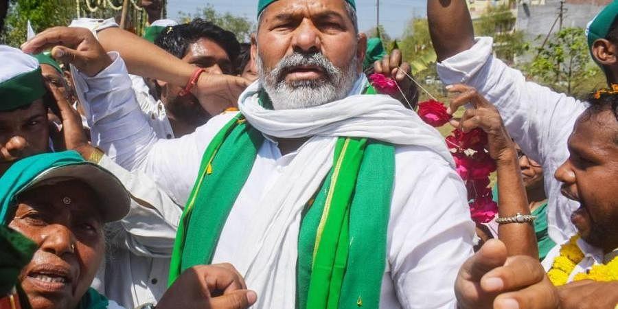 Bharatiya Kisan Union spokesperson Rakesh Tikait.