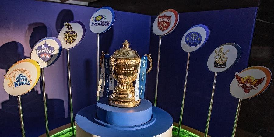 The Indian Premier League 2021 trophy. (Photo | Twitter/@IPL)
