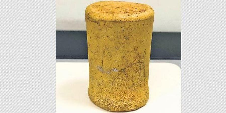 A 24-carat gold bar worth Rs 1.36 crore, was found concealed in a pasta making machine.