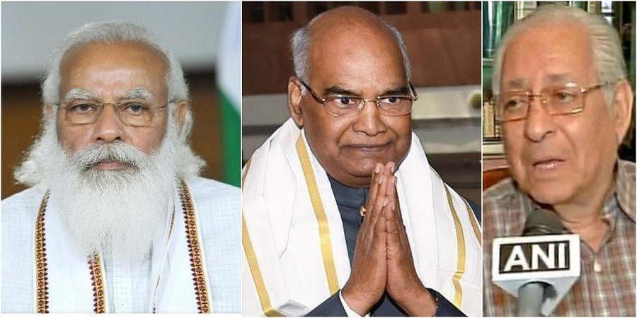 PM Narendra Modi and President Ramnath Kovind, Soli Sorabjee