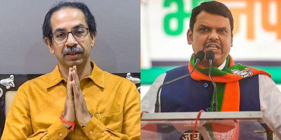 (L) Maharashtra CM Uddhav Thackeray and (R) Devendra Fadnavis (Photos | PTI)
