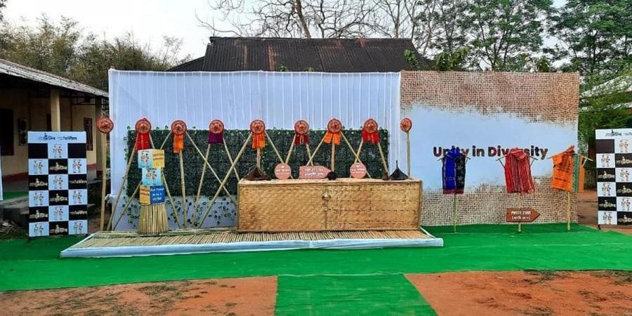 The polling station at Dudhnoi is based on the concept of Unity and Diversity as Dudhnoi is a place of multiple cultures/linguistics/religions and ethnicities
