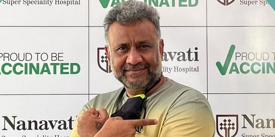 Director Anubhav Sinha after receiving the first shot of COVID-19 vaccine