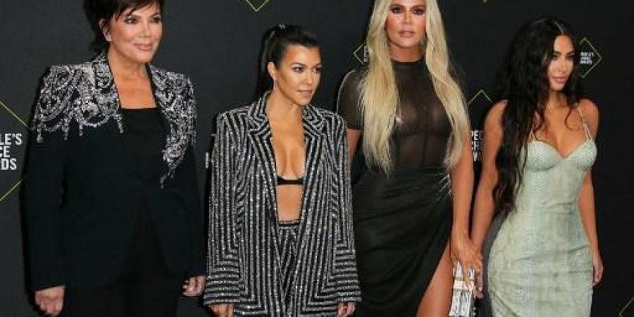 (L-R) Business women/media personality Kris Jenner, Kourtney Kardashian, Khloé Kardashian and Kim Kardashian