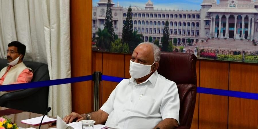 B.S. Yeddyurappa, Chief Minister of Karnataka attend an all CMs meeting with Prime Minister Narendra Modi.