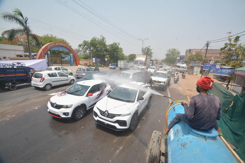 Lucknow Covid sanitation drive