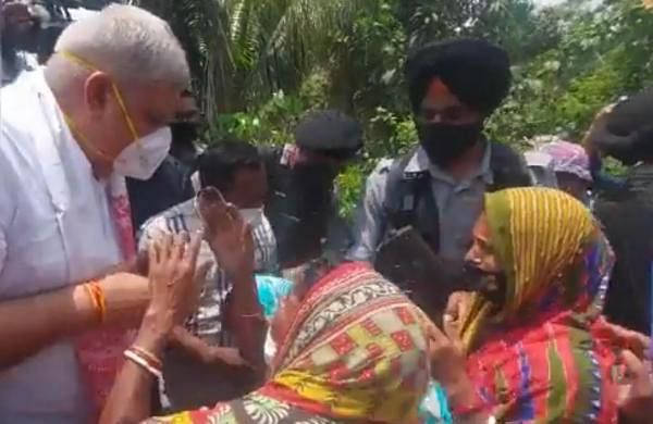 Bengal Governor breaks into tears while visiting Nandigram- The New Indian Express