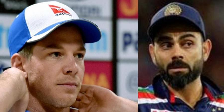 Australia skipper Tim Paine (L) and his Indian counterpart Virat Kohli