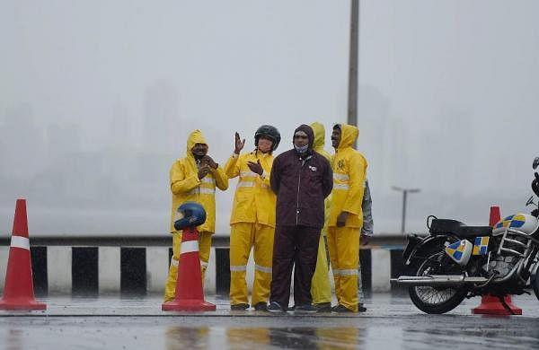 Cyclone Tauktae: Police personnel in Mumbai maintain vigil amid rains andwinds