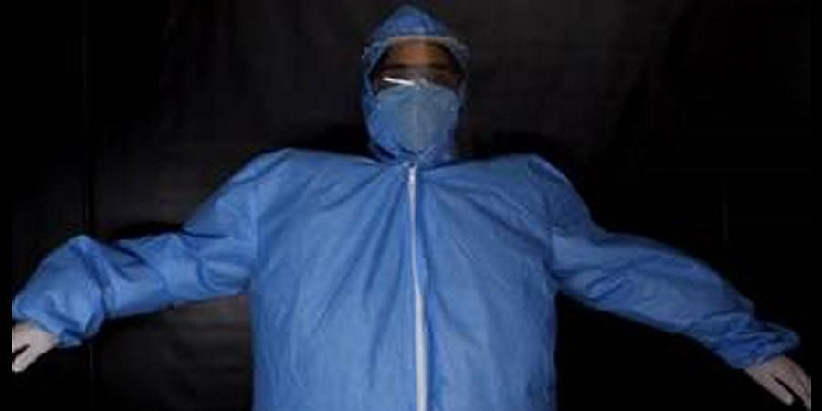 The 'Cov-Tech Ventilation System' can be fastened over the waist just like a simple belt over which the traditional PPE is worn. (Photo | Special arrangement)