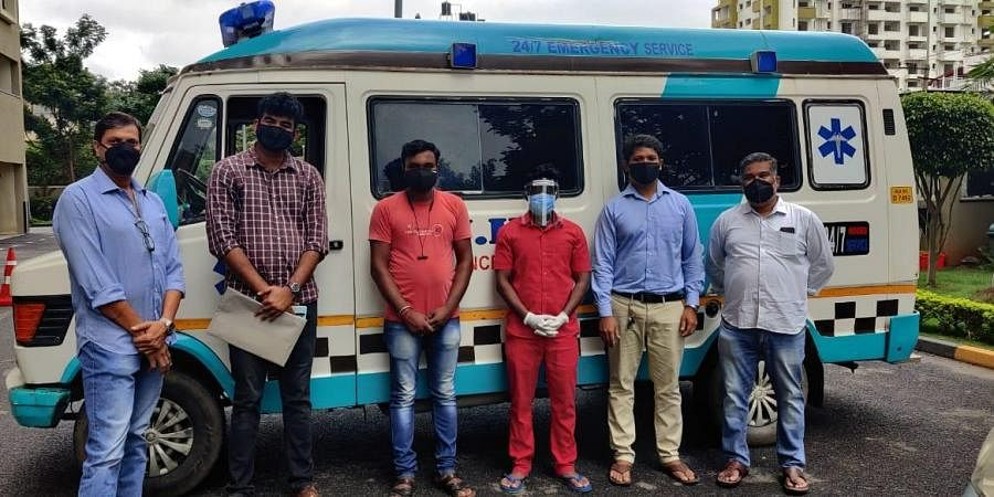 Members of 'Changemakers of Kanakapura Road' plan to revive the ambulance service for residents which was launched during the first wave   Express