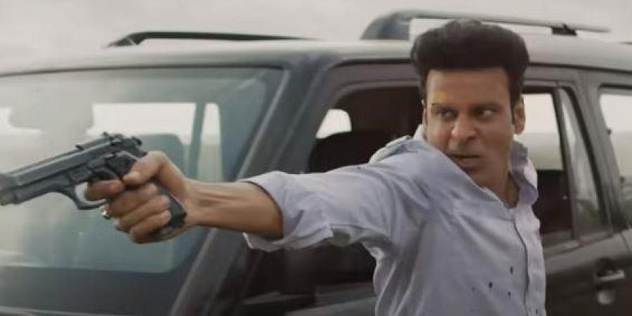 Manoj Bajpayee in a still fromAmazon Prime Video's critically-acclaimed web series 'The Family Man'